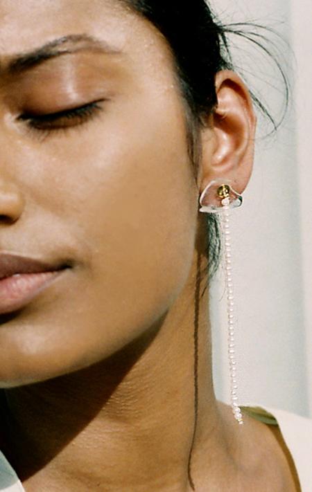 Beatriz Palacios Mismatched Pearl Drop Earrings