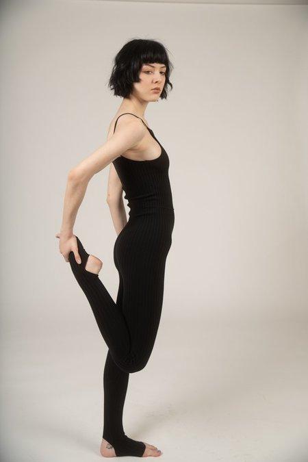 giu giu Nonna knit unitard - black