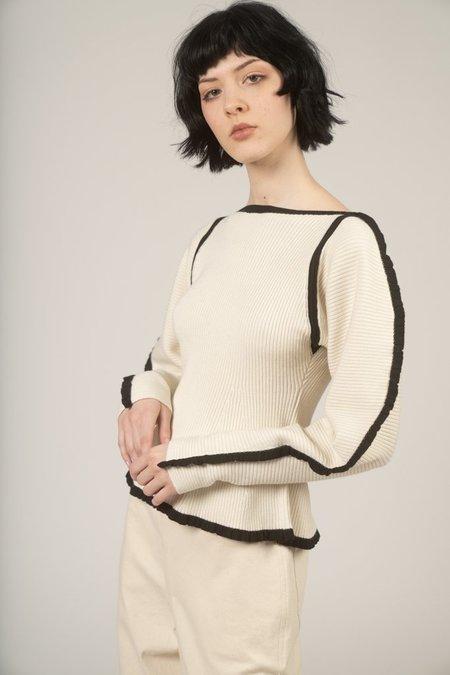 Mara Hoffman Nova sweater - Ivory / black