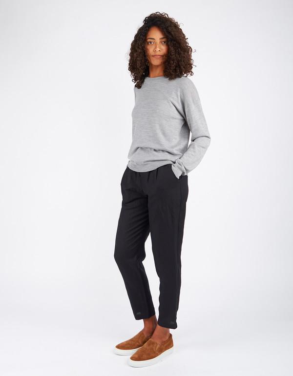 Filippa K Merino R-Neck Pullover Light Grey Melange