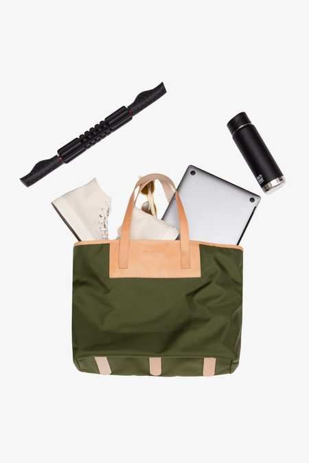 JACK + MULLIGAN Pablo Large Tote - Forest Green