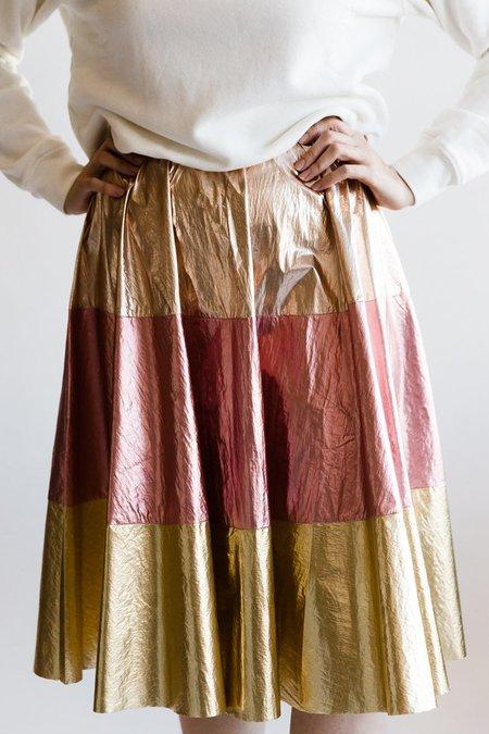 Manoush Woven Tresor Pleated Skirt - Tricolor