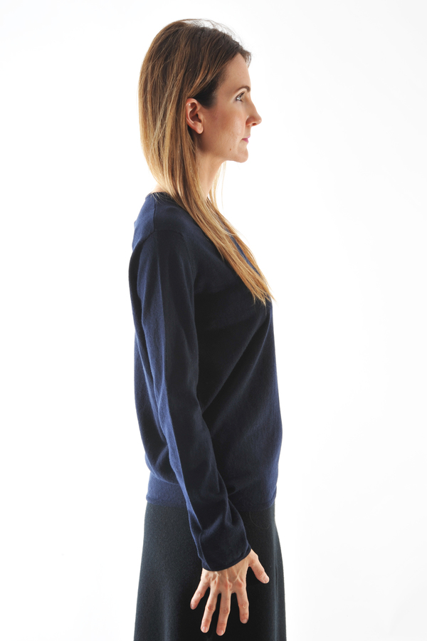 Oyuna Beluga Navy Cashmere Pullover