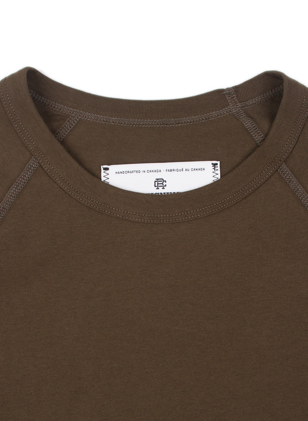 Reigning Champ Knit Cotton Jersey Raglan Tee Olive