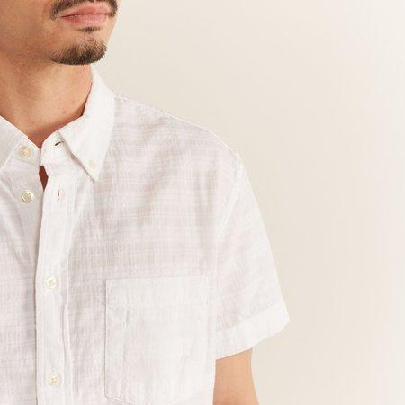 Corridor Seersucker Plaid Summer Shirt - white