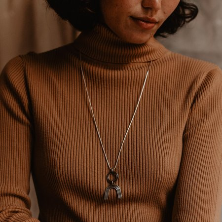 Knuckle Kiss Arkos Necklace - Sterling Silver / Brass