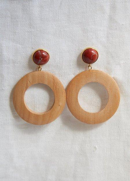 Sophie Monet Moon Earrings - Red