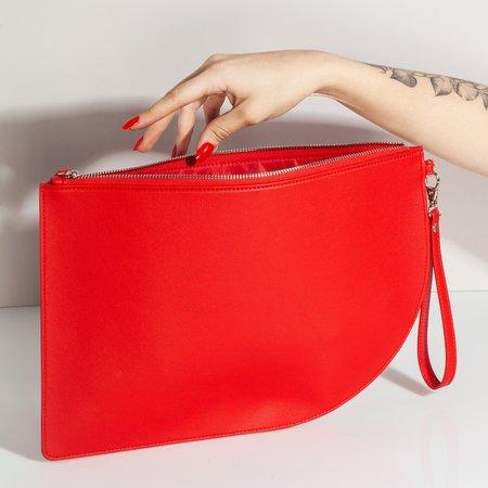Poketo Curve Clutch - Red