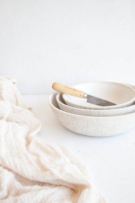 Earthen Nesting Serving Bowls - Crackle