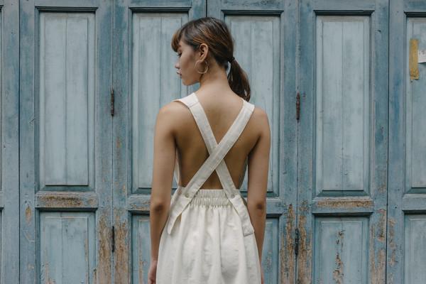Seeker Studios Convertible Overall Dress - Natural