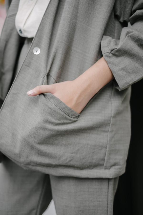 Seeker Studios Essential Oversized Blazer - Grey