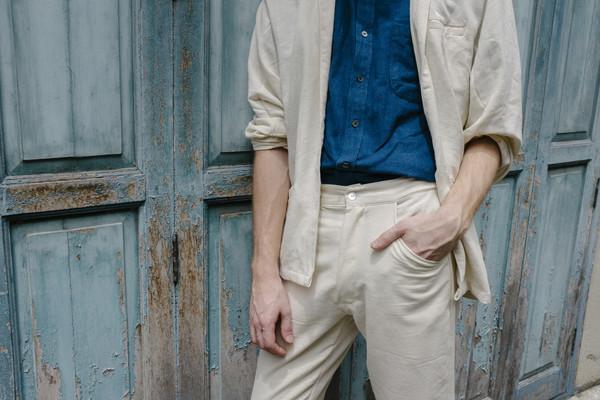 Seeker Studios Signature Classic Trousers - Natural