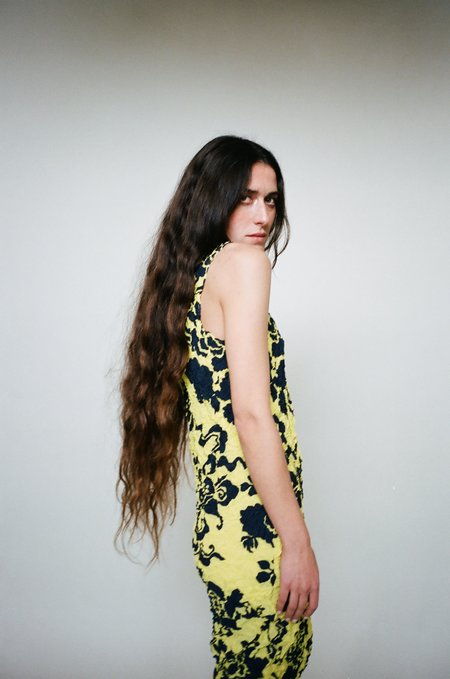 Julia Heuer Pamela Dress - yellow / black