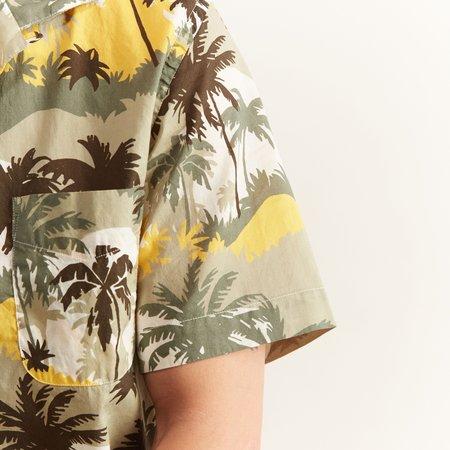 Hartford Slam MC Woven Shirt - YELLOW PALM TREES
