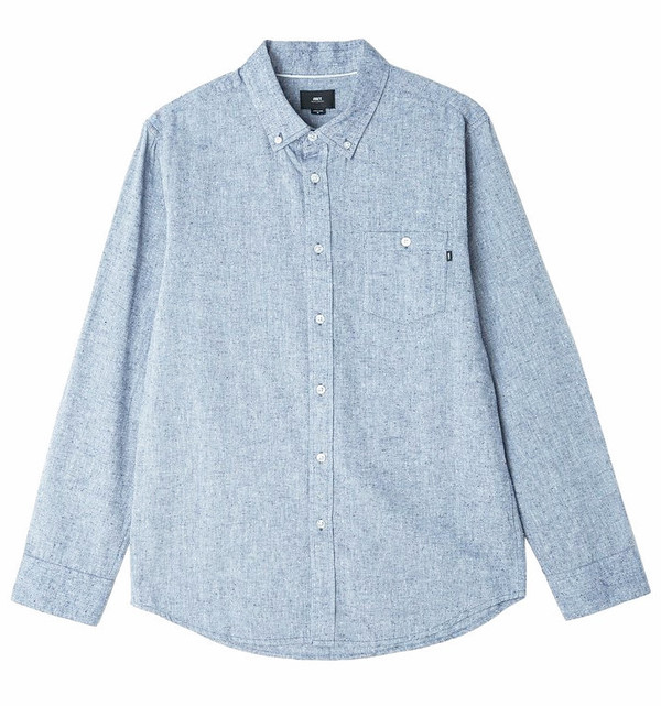 Men's Obey Holden Speckled Chambray Shirt