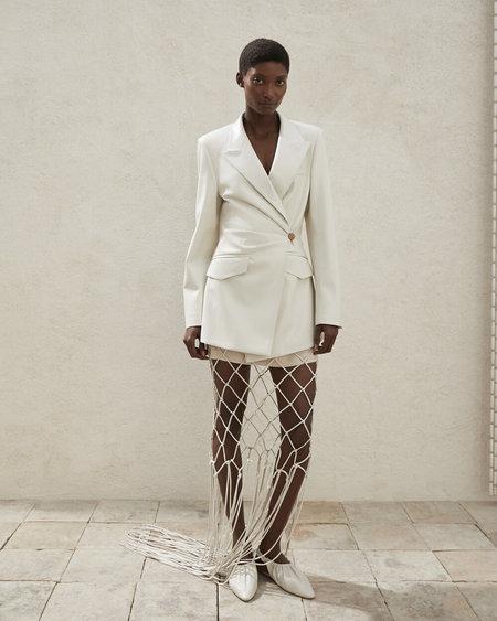 NANUSHKA Blair Deconstructed Blazer - off white