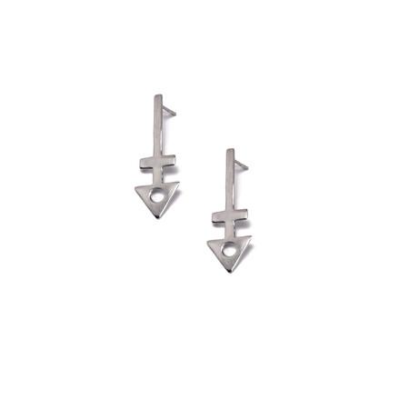 PAR ICI Triangle Drop Earrings