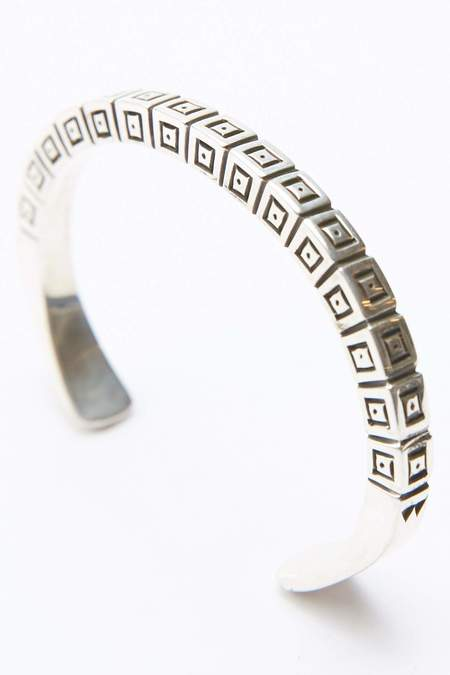 Lyle Secatero Positive Energy Sterling Silver Square Cuff