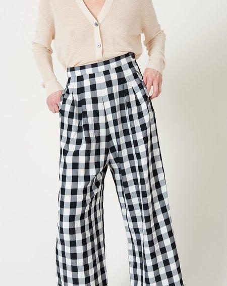 No.6 Jacob Large Gingham Pant - Black/White