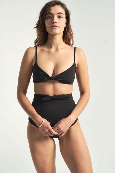 Mara Hoffman Carla Bikini Top - black