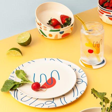 Poketo Bamboo Dinner Plate Set - Doodles