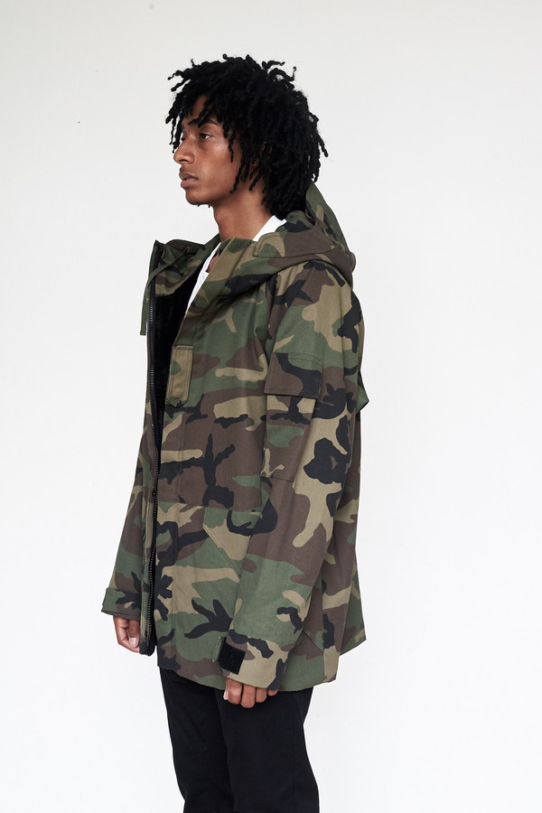 Men's Assembly New York Cotton Camouflage Storm Coat