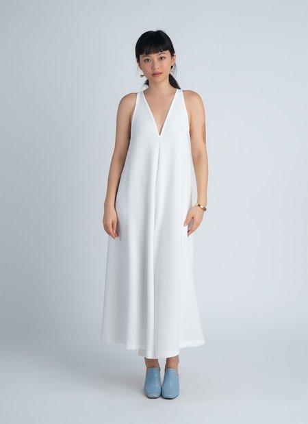 KAAREM Krachai V-Neck Pocket Onesie - White