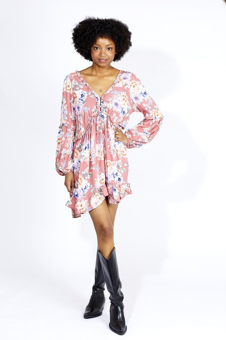 Auguste Pascal Dunes Sleeve Mini Dress - Rose