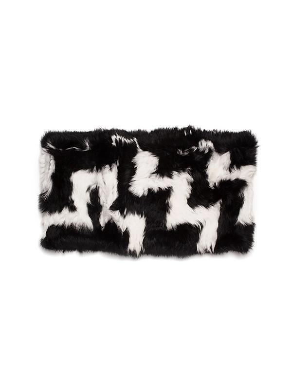 C/FAN SOFIE INFINITY COWL BLACK/WHITE