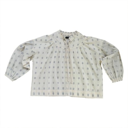 Feather Drum DIMITY BLOUSE - EMBROIDERED