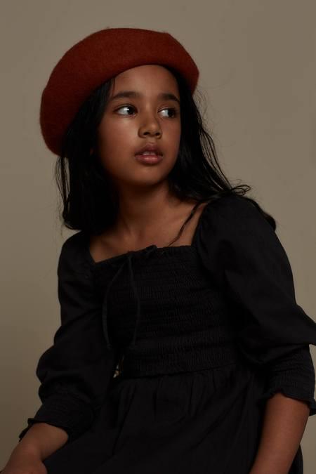 Kids Feather Drum VIVIENNE DRESS - BLACK