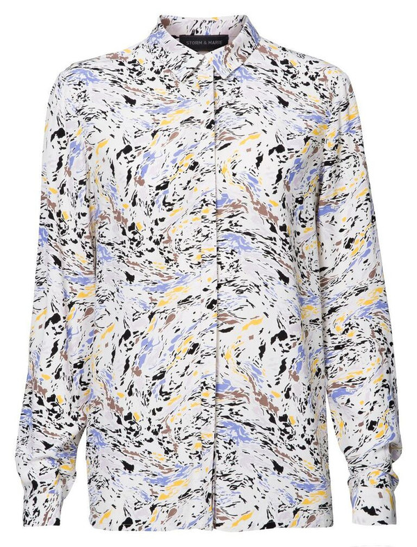 """Storm + Marie Storm and Marie """"Oil"""" Long Sleeve Printed Shirt"""