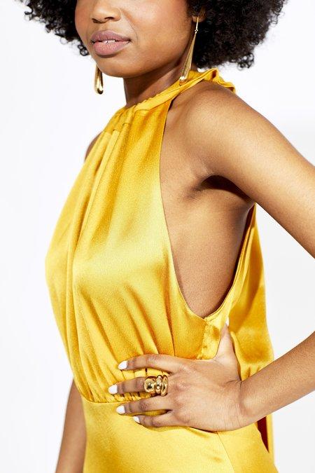 Vanessa Cocchiaro The Anne-Josephine Dress - Mustard
