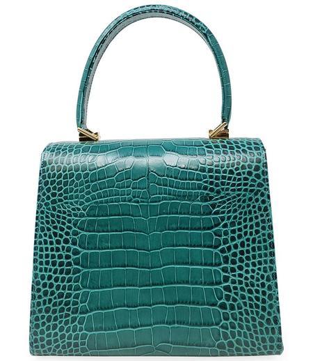 Amato Daniele Plain Leather Handbag - Forest