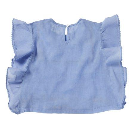 kids bonheur du jour calypso blouse - blue