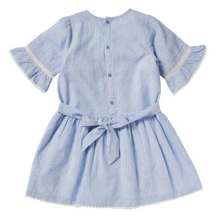 kids bonheur du jour lilou striped dress - blue