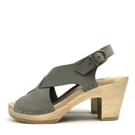 Pattino Shoe Boutique No. 6 Crossover Clog on High Heel - alaska