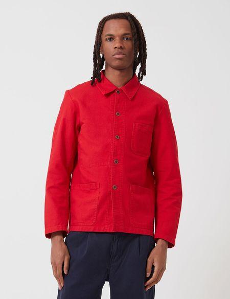 Vetra French Workwear Jacket 5-Short (Cotton Drill) - Poppy Red