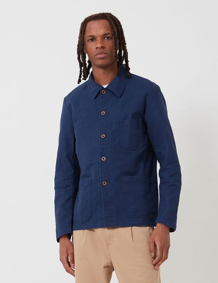 Vetra French Workwear Jacket 5-Short in Cotton Drill - Navy Blue