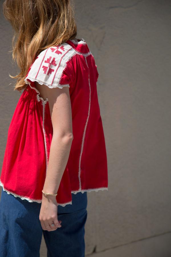 carolina k oxaca hand embroidered blouse