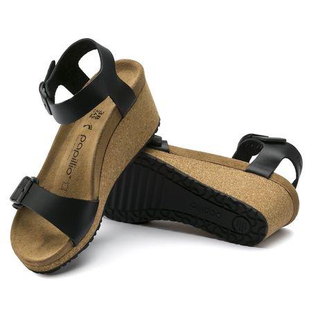 Birkenstock Soley Sandal by Papillio NARROW SOFT FOOT BED - Black