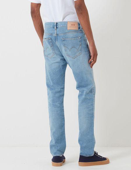 Edwin ED-80 Slim Tapered Jeans - Blue Arisu Wash