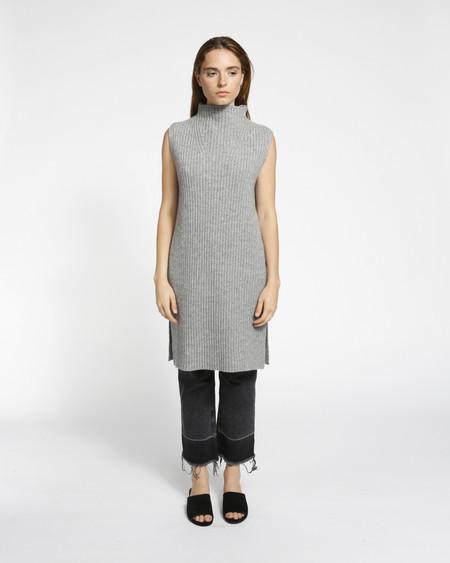 Achro Sleeveless Ribbed Tunic in Grey