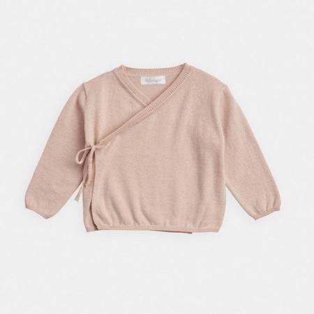 Kids belle enfant cotton wrap top - sugar pink