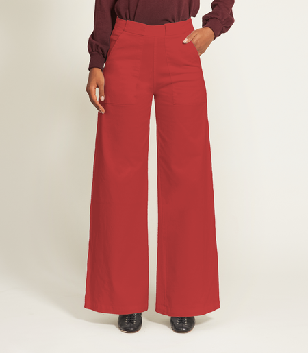 Loup Long Sabrina pants - Red