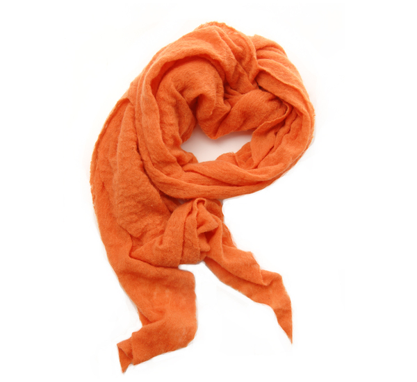 Unisex Botto Giuseppe Orange Diamond Shaped Cashmere Scarf by Botto Giuseppe