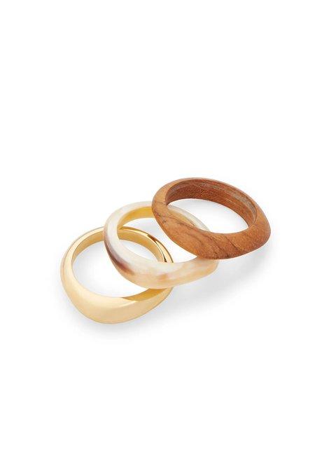 Soko Sabi Mixed Material Stacked Rings
