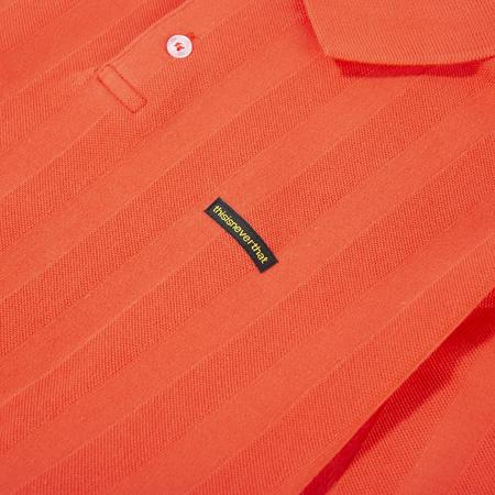 thisisneverthat Jacquard Jersey Polo - Pink