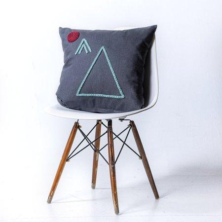 Plinth Home Large Tribe Pillow - Charcoal