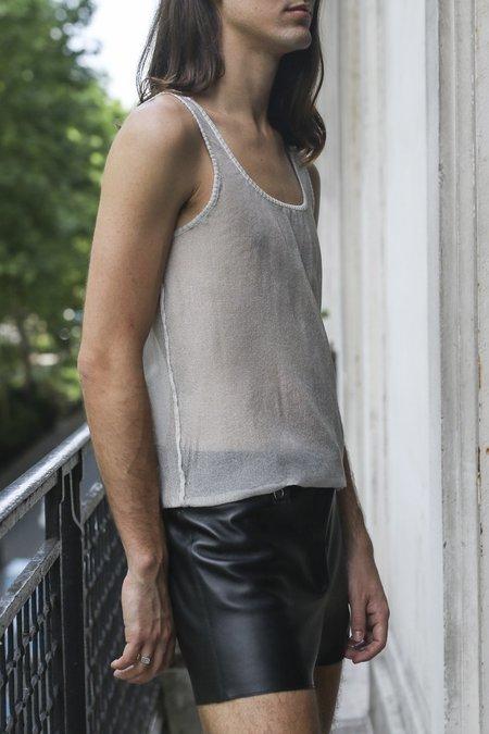 LUDOVIC DE SAINT SERNIN Knit Tank Top - Greige